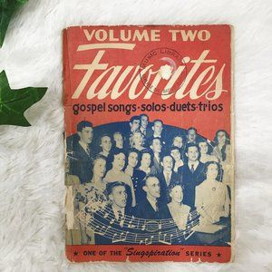 Vintage Gospel Music Song Book